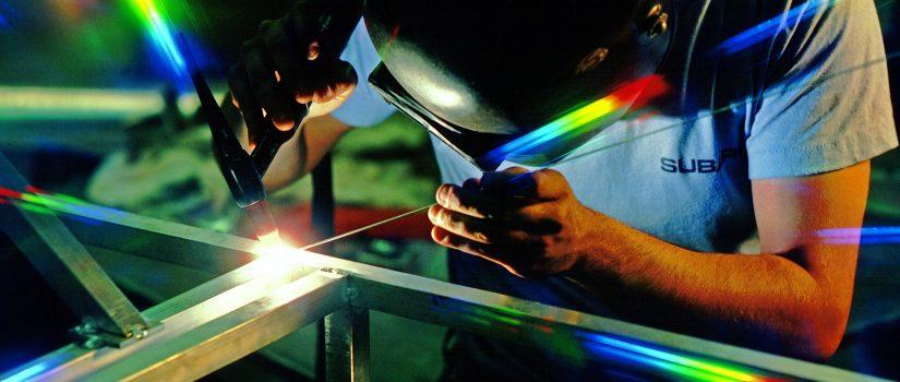 Aluminum welding in building